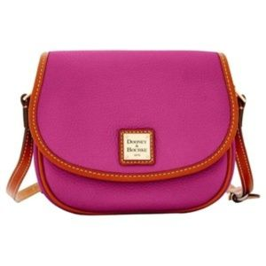 Dooney & Bourke Magenta Pink Pebble Leather Purse